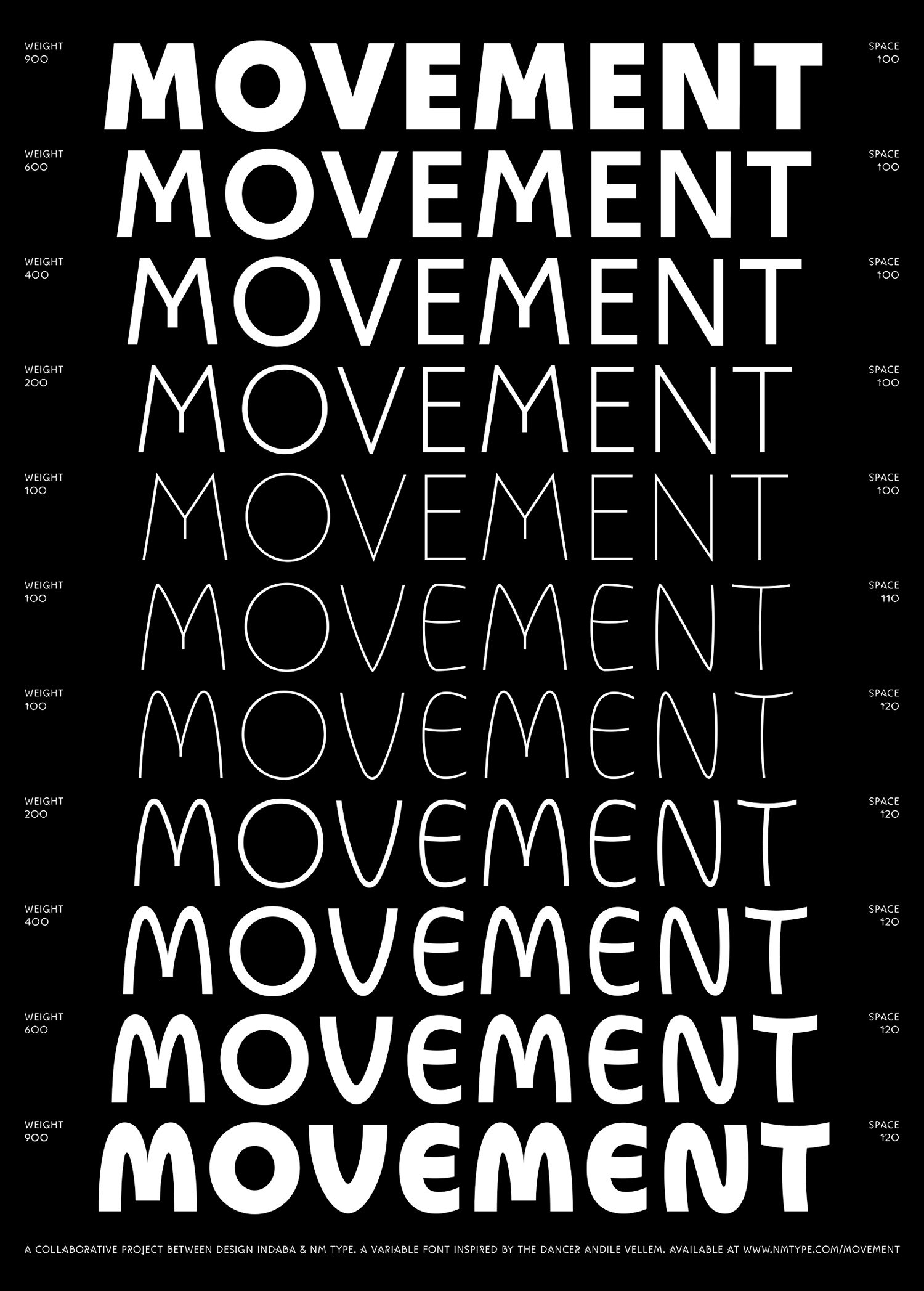 Movement – Dance inspired font